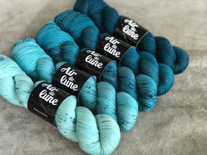 Dear Ocean. 5 skeins kit fingering MSW. (4325385207842)
