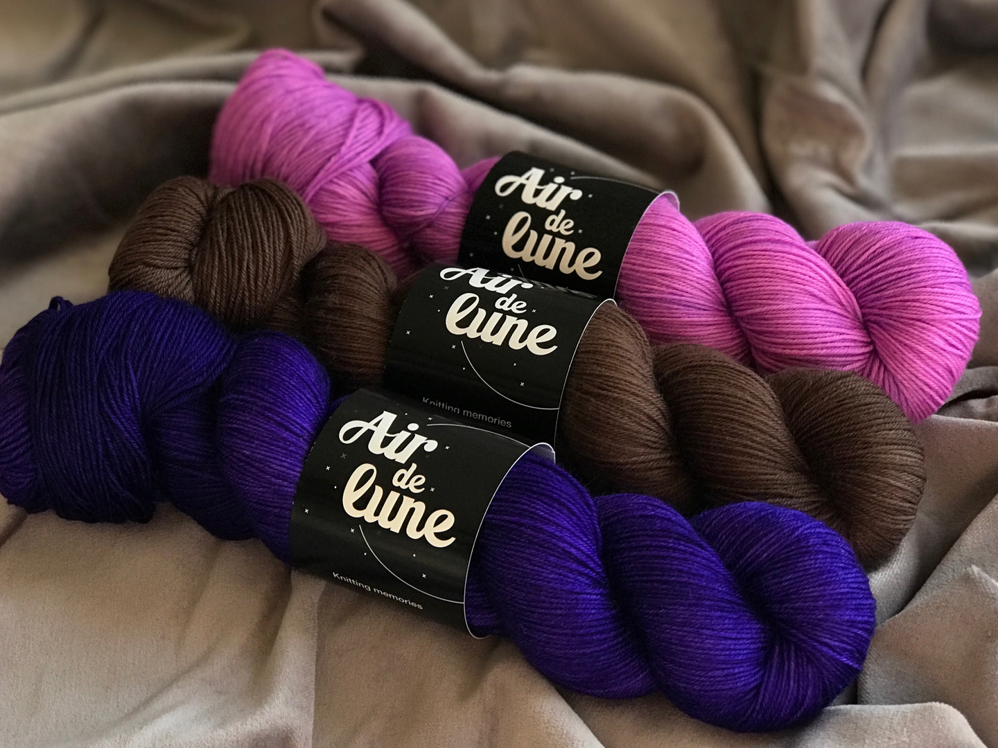 Ultra, chocolate, Viola. 3 skeins kit. (4326532874274)