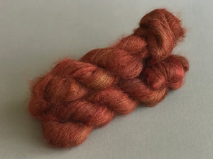 Crimson. Lace Superfine Kid Mohair and Silk (4328855011362)