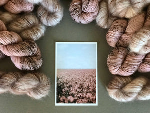 The field of silence.  Fingering 100% Merino SW (4309695791138)
