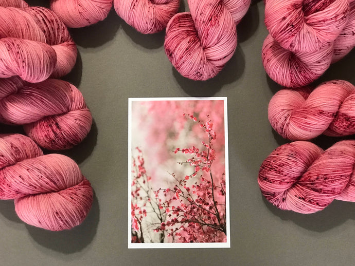 Cherry blossom song. Fingering 100% Merino SW (4309695922210)