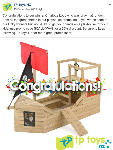 Pirate Galleon Playhouse Winner