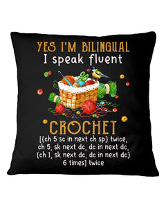 Blingual Crochet Gift For Christmas Black Pillow Cover