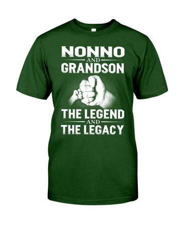 Nonno And Grandson The Legend And The Legacy Guys Tee