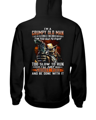 I'm A November  Grumpy Old Man From California Birthday Gift Hoodie