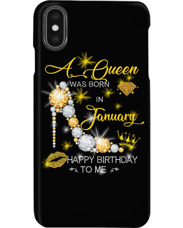 A Queen Was Born In January For Birthday Gift Phone case