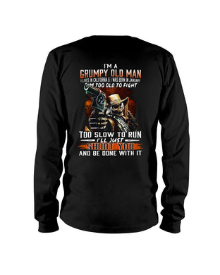 I'm A January Grumpy Old Man From California Unisex Long Sleeve