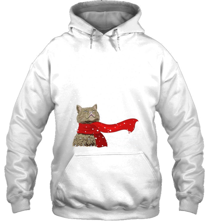 Cat Snow Christmas Gift For Cat Lovers Hoodie