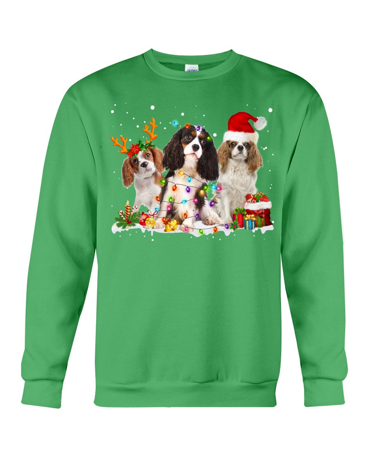 Cavalier King Charles Spaniel-Snow-Christmas Gift For Dog Lovers Sweatshirt