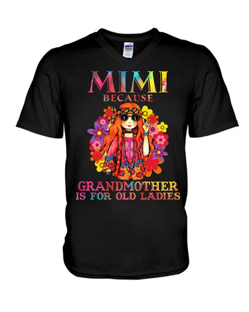 Mimi Because Grandmother Is For Old Lady Guys V-Neck