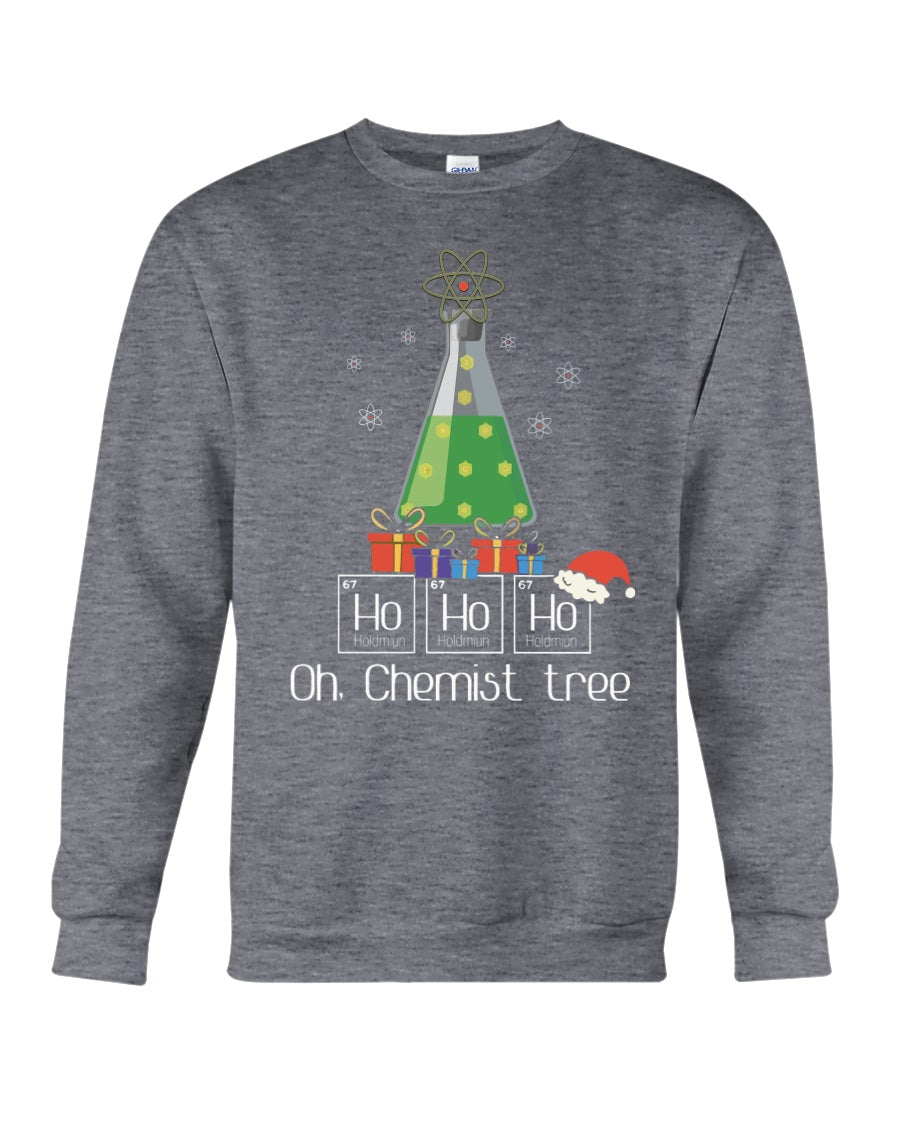 Chemist Tree Ho Ho Ho Christmas Gift For Chemistry Sweatshirt