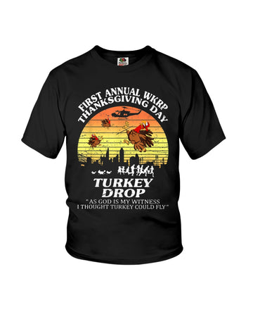 Turkey Drop First Annual Wkrp Youth Tee