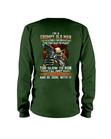 I'm A December Grumpy Old Man From California Unisex Long Sleeve