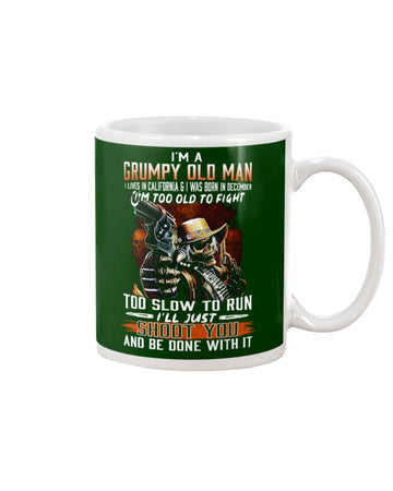 I'm A December Grumpy Old Man From California Mug