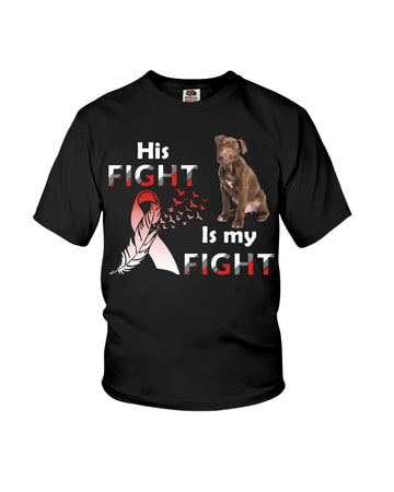 Pitbull His My Is My Fight Youth Tee
