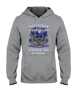 Born In December My Scars Tell A Story Hoodie