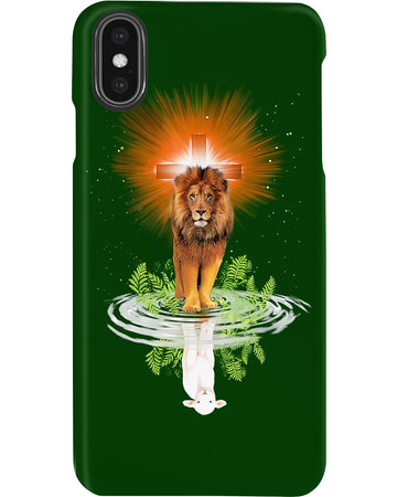 Lion Lamb Shadow Christian Gift Phone case