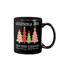 Columbia Inn Pine Tree Vermont Black Sweater Mug