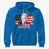 Trump Blessed To Teach American Flag Hoodie 4th Of July