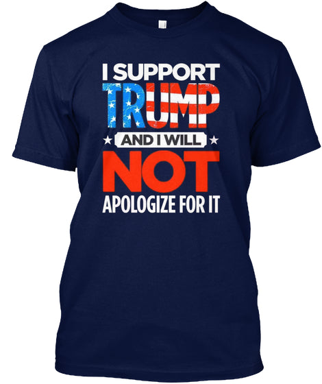 4th Of July I Support Trump Guys Tee Gift For US Independence Day