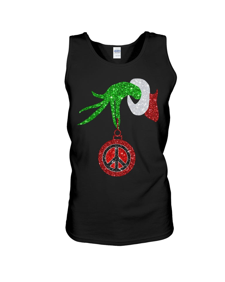 How The Grinch Stole Your Christmas Peace Sympol Unisex Tank Top