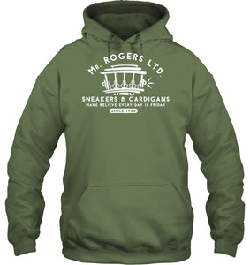 Mr. Rogers Ltd Sneakers And Cardigans Black Sweatshirt Hoodie