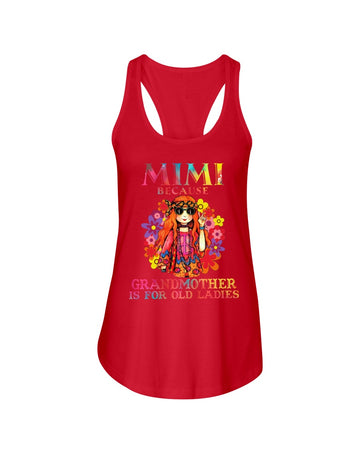 Mimi Because Grandmother Is For Old Lady Ladies Flowy Tank