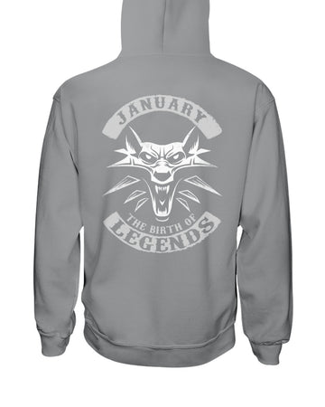January The Birth Of Legends Hoodie