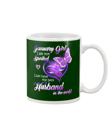I Just Have The Best Husband In The World Gift For January Girl Mug