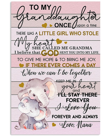 Nana To My Granddaughter I Love You Gift For Granddaughter Vertical Poster
