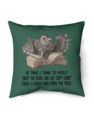 Drop The Book And Get Stuff Done The Laugh And Turn The Page Pillow Cover