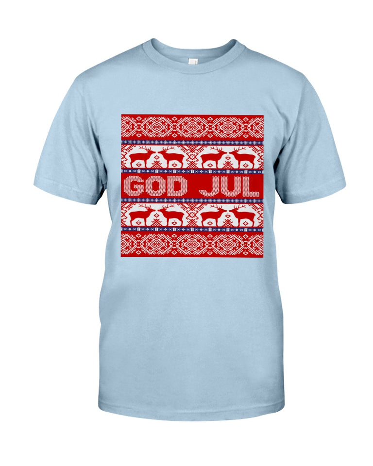 God Jul Christmas Gift Pillow Cover Guys Tee