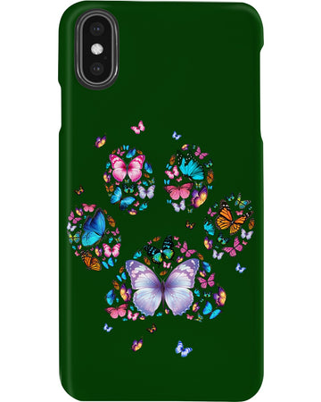 Butterflies And Special Paw Phone case