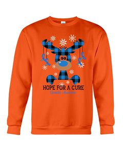 Christmas Gift Hope For A Cure Gray Sweatshirt