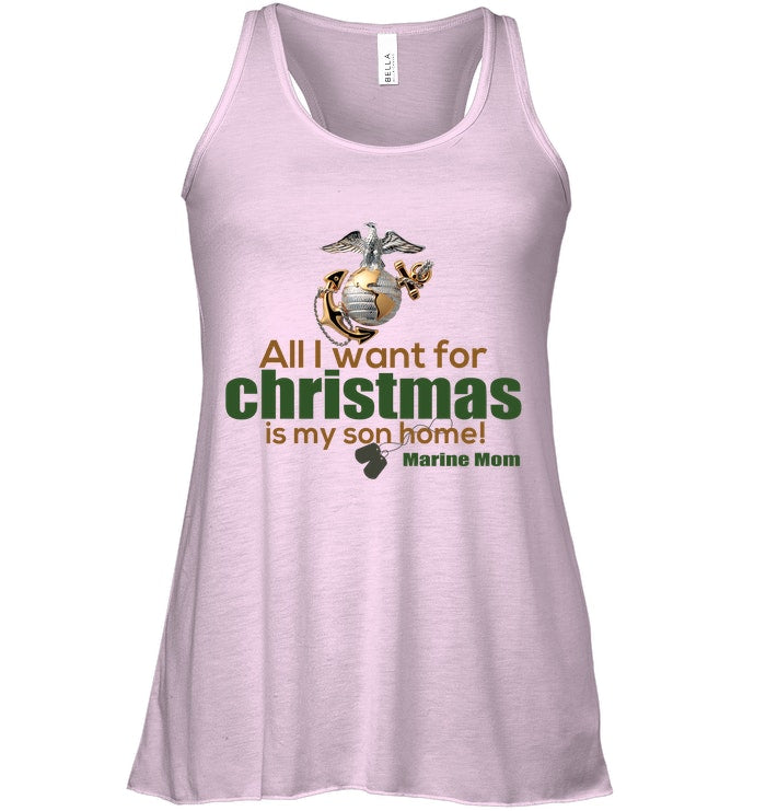 All I Wannt For Christmas Is My Son Ladies Flowy Tank