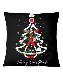 Nurse Tree Christmas Funny Pillow Cover