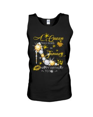A Queen Was Born In January For Birthday Gift Unisex Tank Top