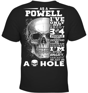 Powell Quote Skull Shirt Youth Tee
