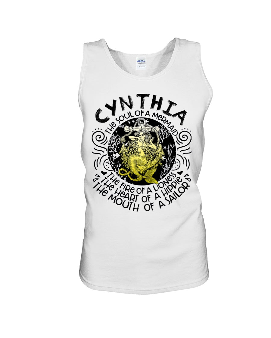Cynthia The Soul Of A Mermaid Quote Name Sweater Unisex Tank Top