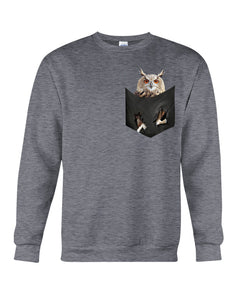 Owls In The Pocket Funny Gift Black Sweatshirt