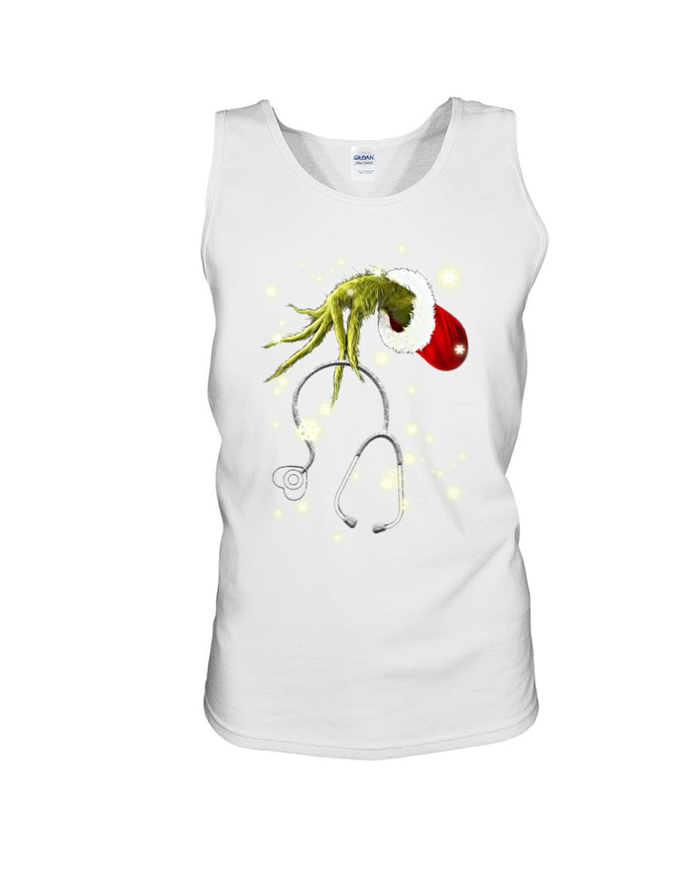 Grinch Nurse Gift For Christmas Black Unisex Tank Top