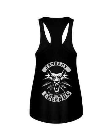 January The Birth Of Legends Ladies Flowy Tank