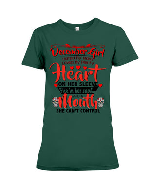 December Girl Loved By Plenty Heart And A Mouth She Can't Control Ladies Tee