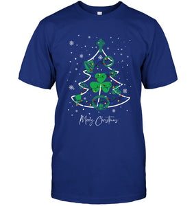 Merry Christmas Irish Tree Gift For Christmas Black T-Shirt Guys Tee
