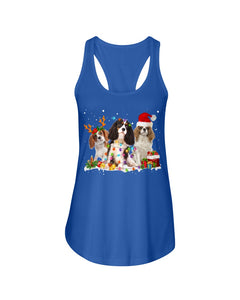Cavalier King Charles Spaniel-Snow-Christmas Gift For Dog Lovers Ladies Flowy Tank