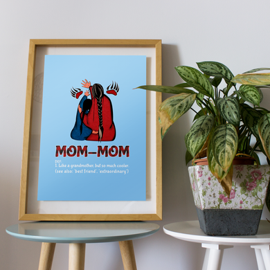 Mom-Mom Likes A Grandmother But So Much Cooler Family Gift For Mother Mommy