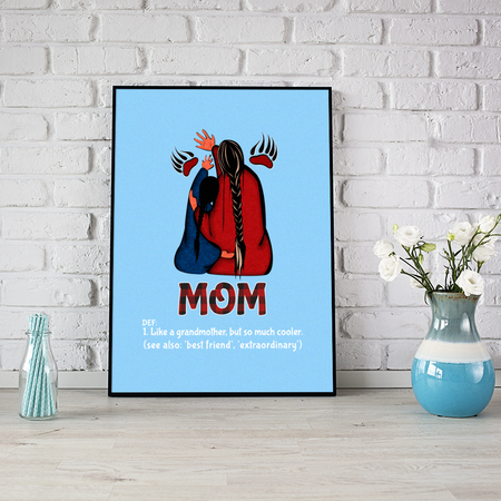 Mom Likes A Grandmother But So Much Cooler Family Gift For Mother Mommy
