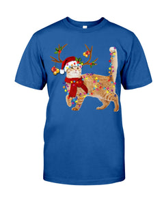 Cat Gorgeous Reindeer Christmas Gift  Cute T-Shirt Guys Tee