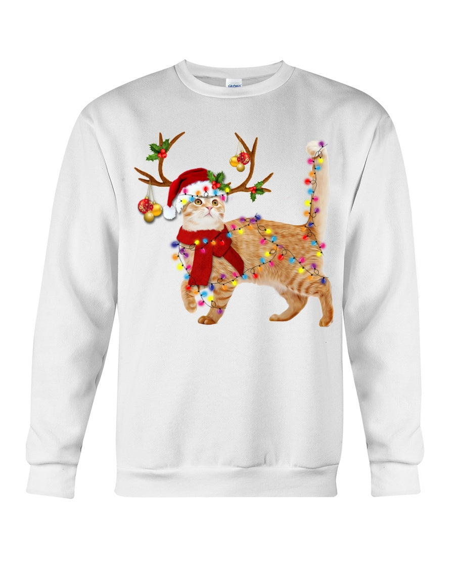 Cat Gorgeous Reindeer Christmas Gift Cute Sweatshirt
