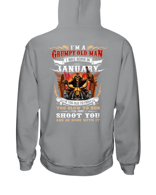 Grumpy Old Man Born In January Birthday Gift Hoodie